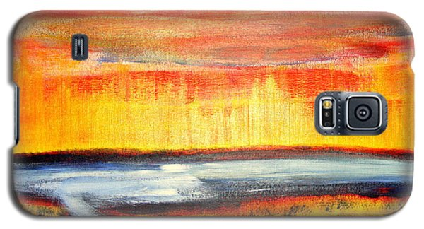 The First Handcart Is Faith Galaxy S5 Case by Richard W Linford