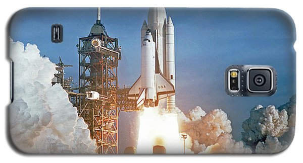 The First Shuttle Launch Galaxy S5 Case by Rod Jones