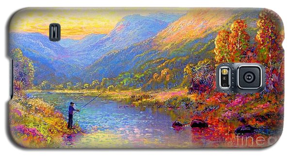 Trout Galaxy S5 Case - Fishing And Dreaming by Jane Small