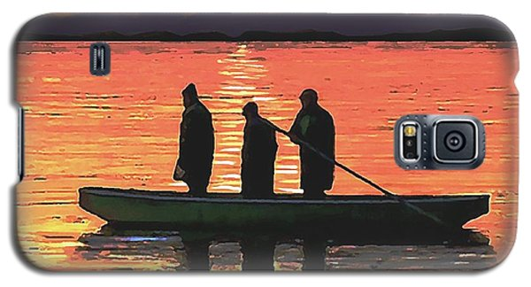 Galaxy S5 Case featuring the painting The Fishermen by Sophia Schmierer