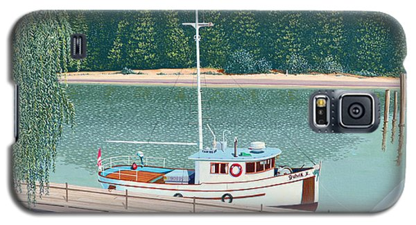 Galaxy S5 Case featuring the painting The Converted Fishing Trawler Gulvik by Gary Giacomelli