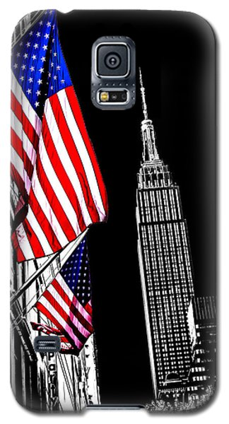 Empire State Building Galaxy S5 Case - The Flag That Built An Empire by Az Jackson