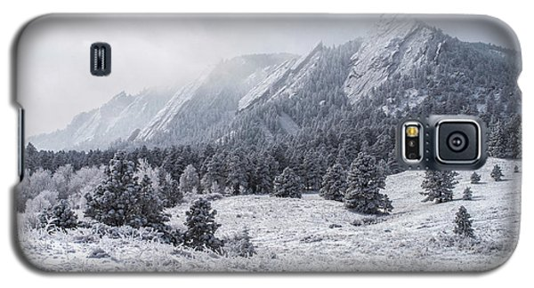 The Flatirons - Winter Galaxy S5 Case