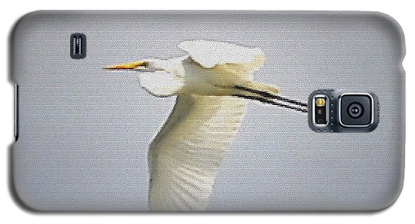The Flight Of The Great Egret With The Stained Glass Look Galaxy S5 Case by Verana Stark