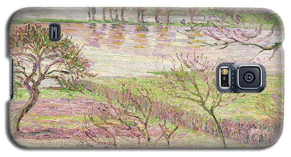 The Flood At Eragny Galaxy S5 Case by Camille Pissarro