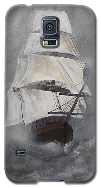 Galaxy S5 Case featuring the painting The Flying Dutchman by Virginia Coyle