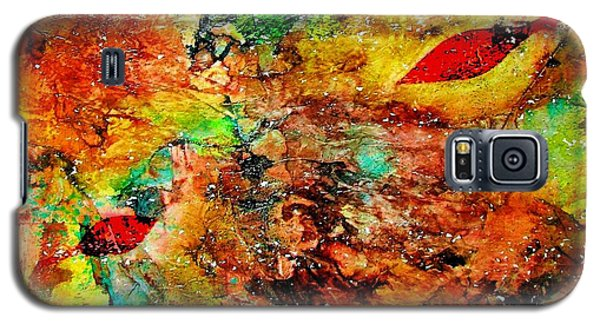 Galaxy S5 Case featuring the painting The Forest Floor by Carolyn Repka