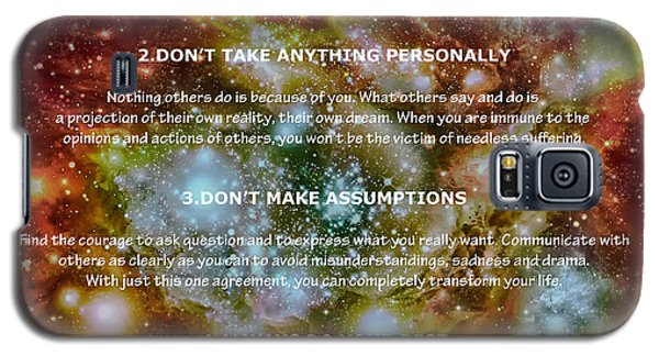 The Four Agreements-wisdom Of The Toltecs Galaxy S5 Case by Eti Reid