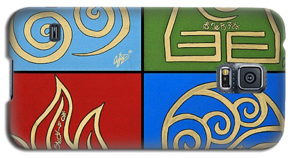 Galaxy S5 Case featuring the painting The Four Elements In Cy Lantyca by Cyryn Fyrcyd