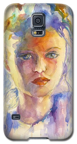 Galaxy S5 Case featuring the painting The French Girl by P Maure Bausch
