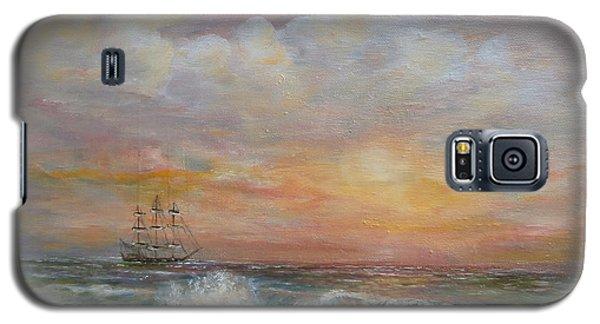 Sunlit  Frigate Galaxy S5 Case by Luczay
