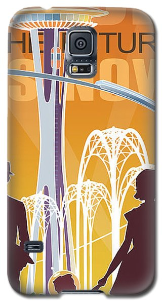The Future Is Now - Orange Galaxy S5 Case