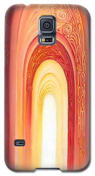 Galaxy S5 Case featuring the painting The Gate Of Light by Anna Ewa Miarczynska