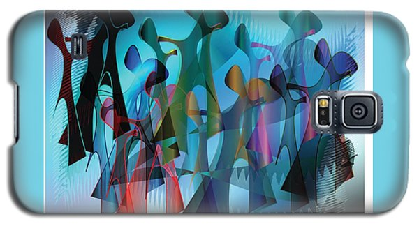 Galaxy S5 Case featuring the digital art The Gathering by Iris Gelbart
