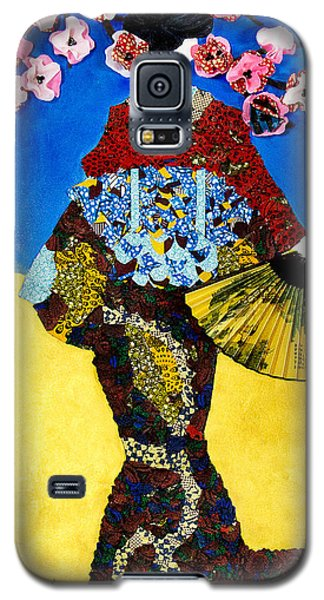 Galaxy S5 Case featuring the tapestry - textile The Geisha by Apanaki Temitayo M