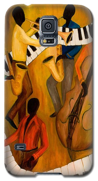 Trumpet Galaxy S5 Case - The Get-down Jazz Quintet by Larry Martin