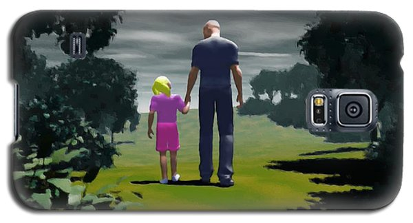 Galaxy S5 Case featuring the digital art The Gift Of Being 'daddy' by John Alexander