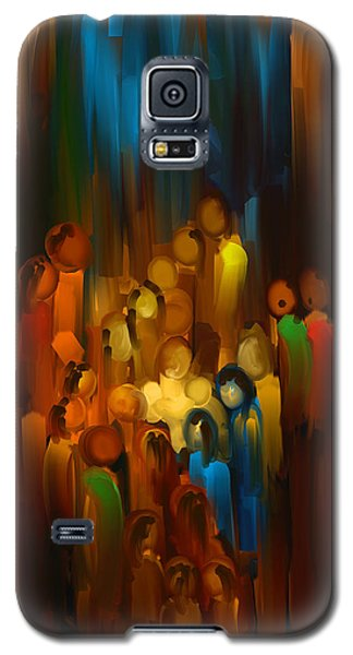 Galaxy S5 Case featuring the painting The Gift by Steven Lebron Langston