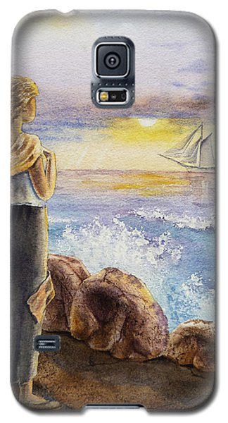 The Girl And The Ocean Galaxy S5 Case