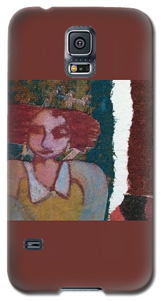 Galaxy S5 Case featuring the mixed media The Girl Waits by Catherine Redmayne