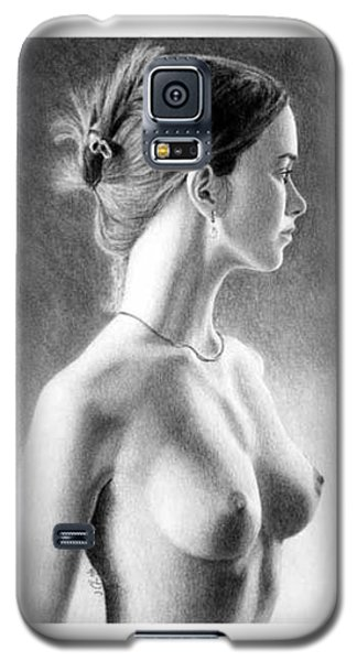 Galaxy S5 Case featuring the painting The Girl With The Glass Earring by Joseph Ogle