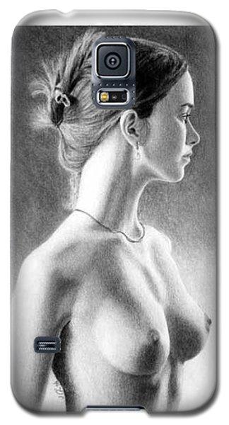 The Girl With The Glass Earring Galaxy S5 Case by Joseph Ogle