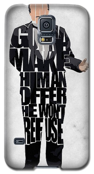 The Godfather Inspired Don Vito Corleone Typography Artwork Galaxy S5 Case