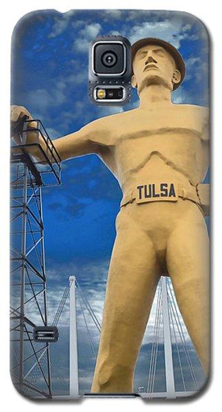 The Golden Driller - Tulsa Oklahoma Galaxy S5 Case by Deena Stoddard
