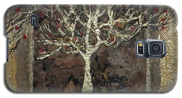 Galaxy S5 Case featuring the mixed media The Golden Tree  by Delona Seserman