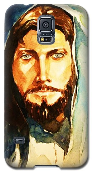 Galaxy S5 Case featuring the painting The Good Shepherd by Al Brown