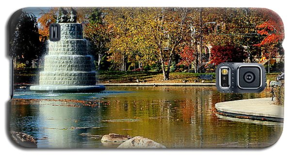 The Goodale Park  Fountain Galaxy S5 Case by Laurel Talabere