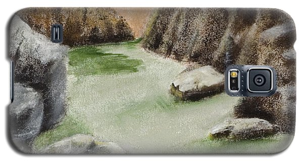 Galaxy S5 Case featuring the painting The Gorge by Susan Culver