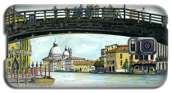 Galaxy S5 Case featuring the painting The Grand Canal Venice Italy by Albert Puskaric