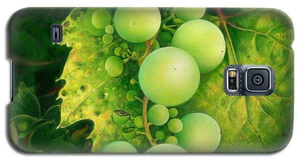 Galaxy S5 Case featuring the painting The Grapes by Anna Ewa Miarczynska