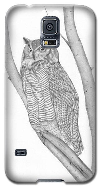 The Great Horned Owl Watches Galaxy S5 Case
