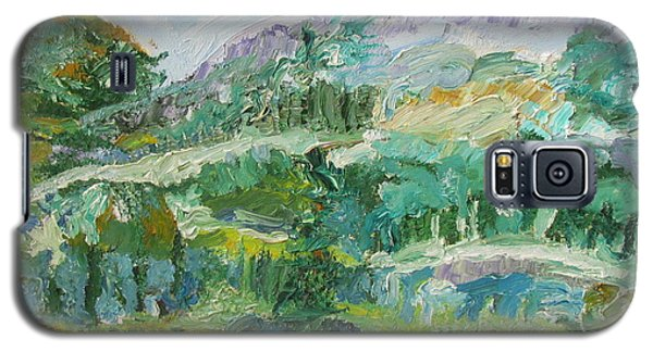 Galaxy S5 Case featuring the painting The Great Land by Shea Holliman