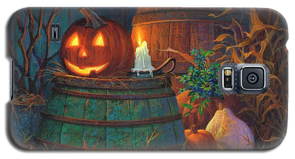 Galaxy S5 Case featuring the painting The Great Pumpkin by Michael Humphries