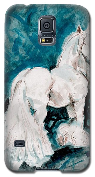 Galaxy S5 Case featuring the painting The Great White by Mary Armstrong