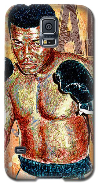 Boxing Muhammad Ali Galaxy S5 Case - The Greatest Of All Time by Maria Arango