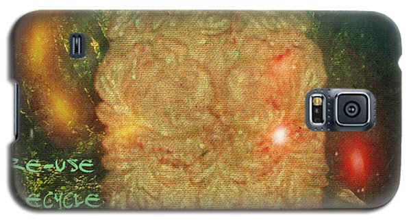 Galaxy S5 Case featuring the photograph The Green Man - Recycle by Absinthe Art By Michelle LeAnn Scott