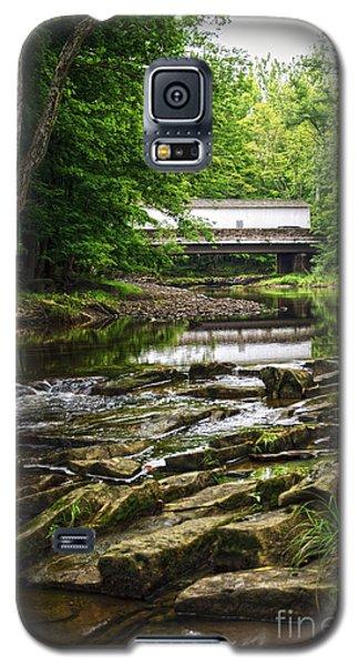 Galaxy S5 Case featuring the photograph The Green Sergeants Covered Bridge II by Debra Fedchin