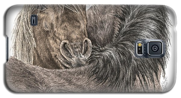 The Groom - Chincoteague Pony Print - Color Tinted Galaxy S5 Case