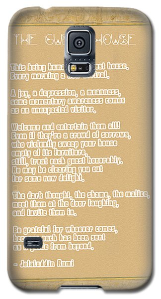 The Guest House Poem By Rumi Galaxy S5 Case