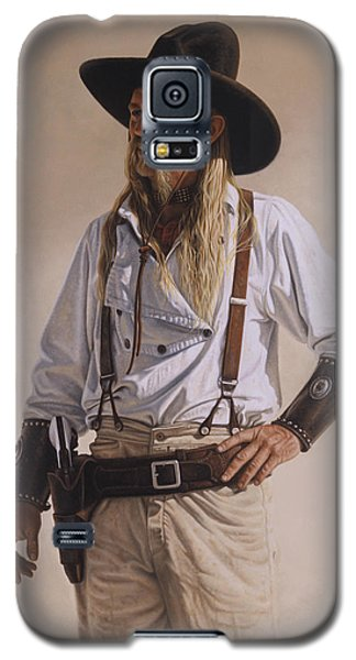 Galaxy S5 Case featuring the painting The Gunslinger by Ron Crabb