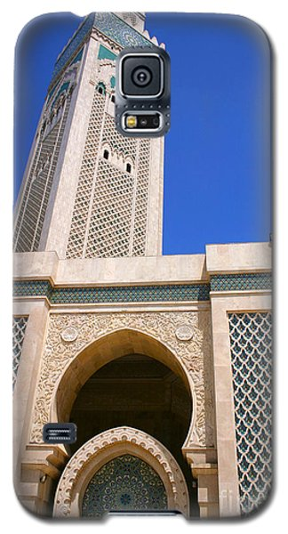 The Hassan II Mosque Grand Mosque With The Worlds Tallest 210m Minaret Sour Jdid Casablanca Morocco Galaxy S5 Case by Ralph A  Ledergerber-Photography