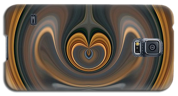 Galaxy S5 Case featuring the digital art the Heart of Time by rd Erickson