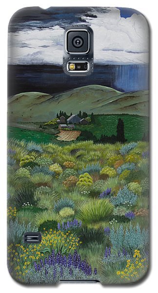 Galaxy S5 Case featuring the painting The High Desert Storm by Jennifer Lake
