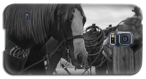 Galaxy S5 Case featuring the photograph The Hitching Post by Amber Kresge