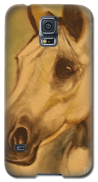 Galaxy S5 Case featuring the painting The Horse by Sorin Apostolescu