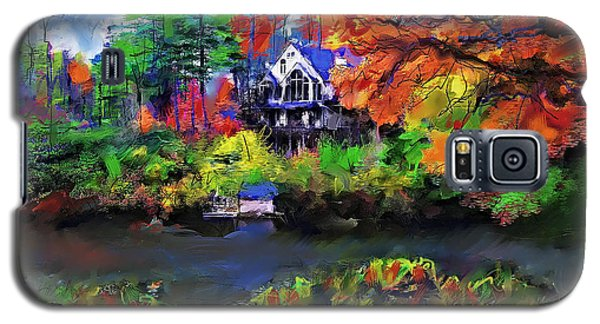 Galaxy S5 Case featuring the painting The House At Highlands by Ted Azriel